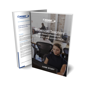 Read our case study: Mdernized Hosted Telephony for major manufacturing operation across EMEA
